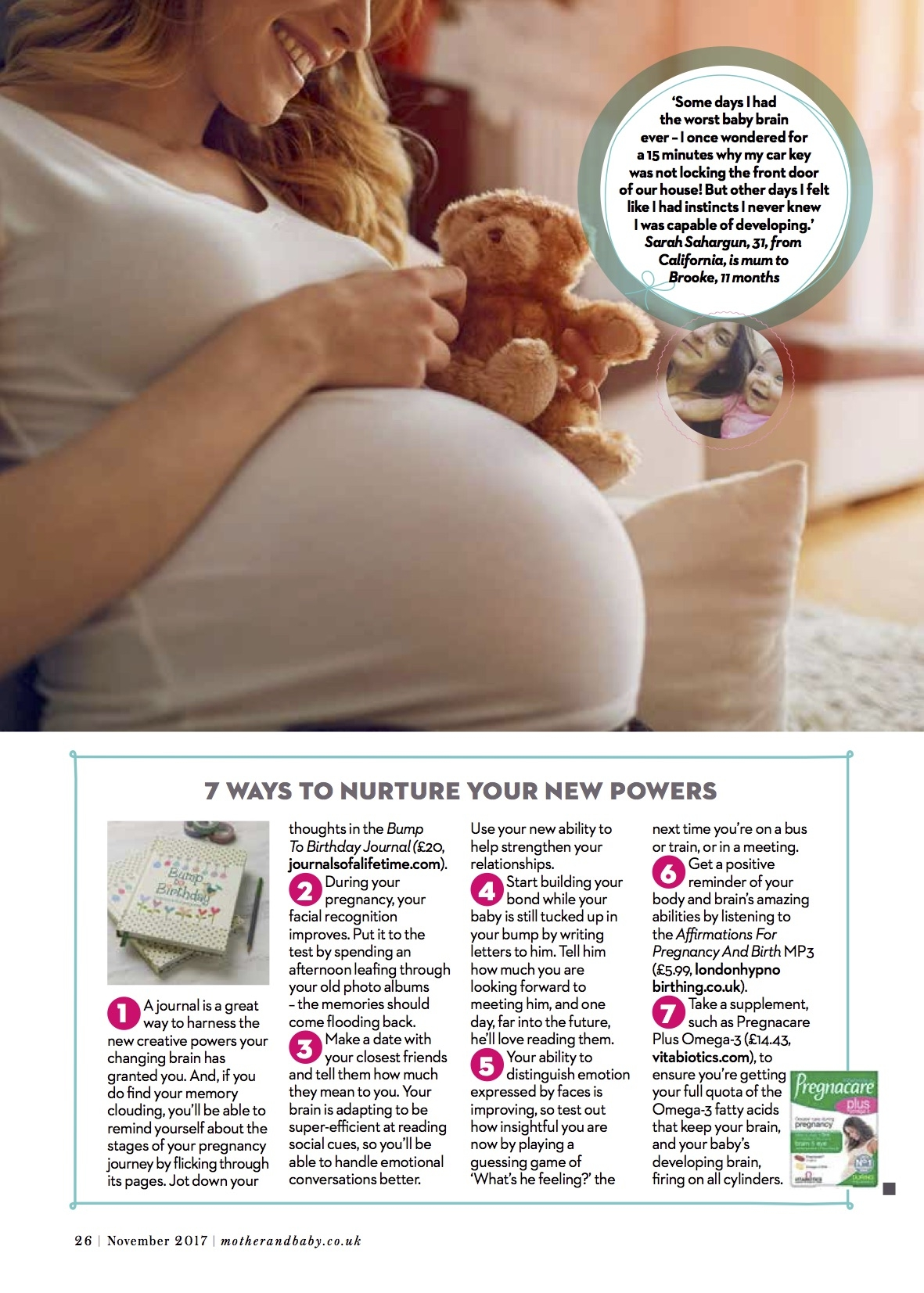 Bump to Birthday Mother & Baby Mag Nov 2017