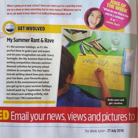 My Summer Rant & Rave in The Week Junior