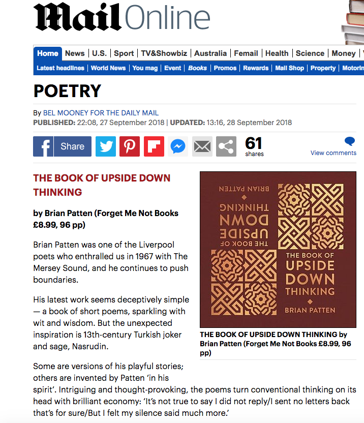 The Book Of Upside Down Thinking Daily Mail review